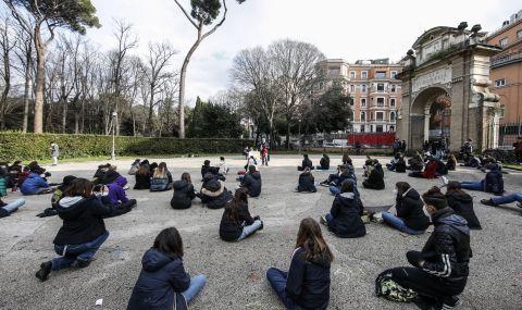 Ученици на протест в Италия