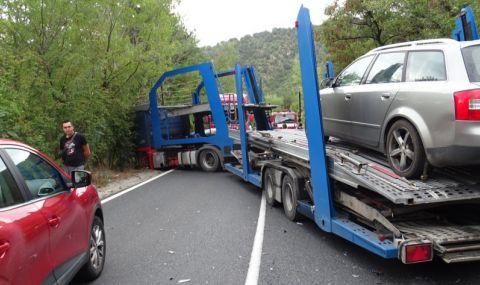 Катастрофа с автовоз блокира за 2 ч. Кресненското дефиле - 1