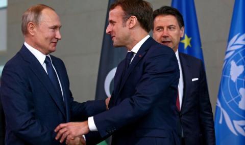 Макрон разговаря с Путин