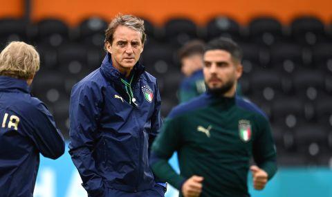 Манчини: Съставът срещу България ще е сходен с този от финала на Европейското първенство - 1