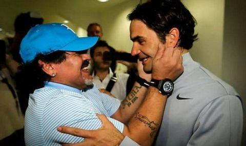 Марадона бил голям фен на Роджър Федерер, обожавал го