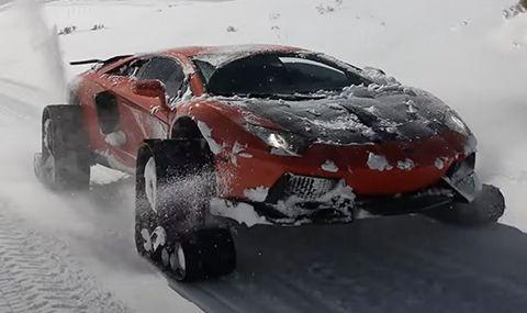 Този Aventador е подходящ за всякакви терени