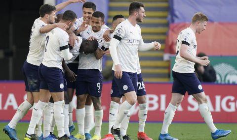 Манчестър Сити продължава да крачи към шампионската титла във Висшата лига