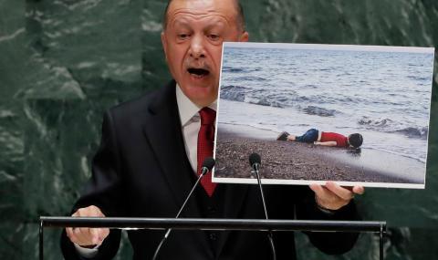 Ердоган показа снимка на мъртво дете