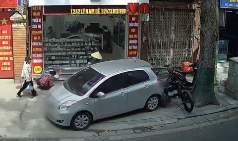 Ето какво се случва когато объркаш педалите (ВИДЕО)