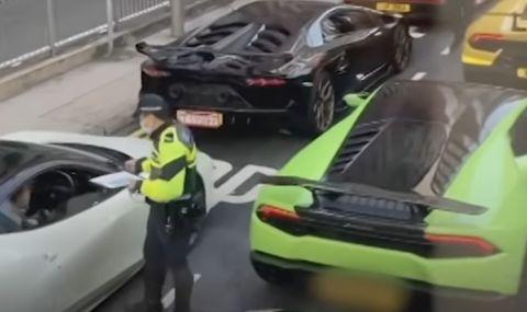 Полицията в Хонг Конг спря за проверка 45 суперавтомобила (ВИДЕО)