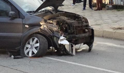 Мъж е бил ранен при верижна катастрофа в Бургас