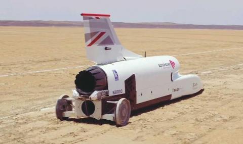 Вижте как реактивната кола ускорява до 790 км/ч