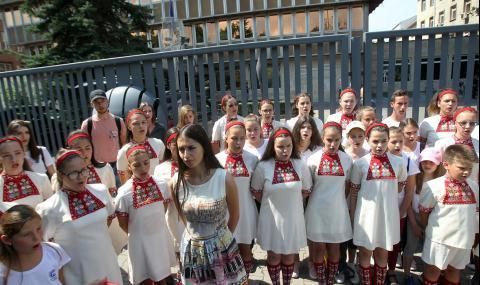 Детският радиохор на БНР излезе на протест