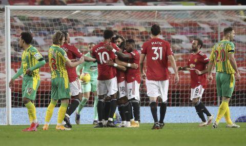 VAR спаси трите точки за Манчестър Юнайтед срещу Уест Бромич