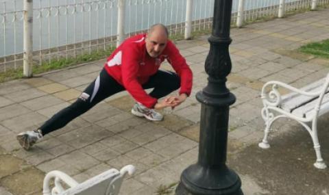 Цветанов със сутрешна тренировка във Видин, хвали бившия кмет на града
