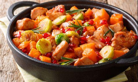 Рецепта за вечеря: Ароматна зеленчукова яхния с гъби - 1