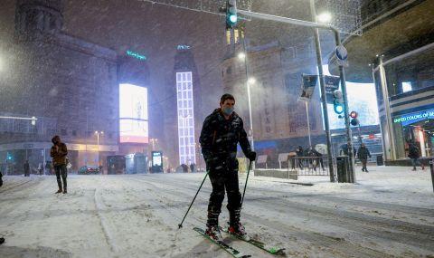 Сняг и сибирски студ блокираха Испания
