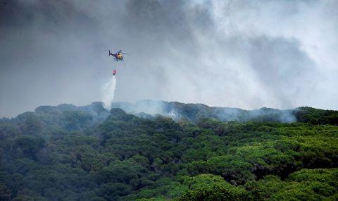 Истински огнен ад бушува зад Океана (ВИДЕО)