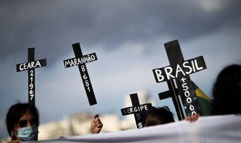 Протест в Бразилия срещу управлението на здравната криза - 1