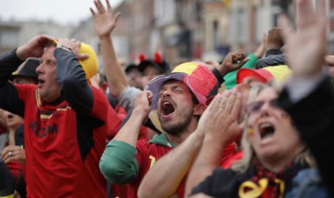 Грозни сцени след мача Белгия - Франция