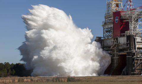 НАСА тества мощни ракетни двигатели (ВИДЕО)