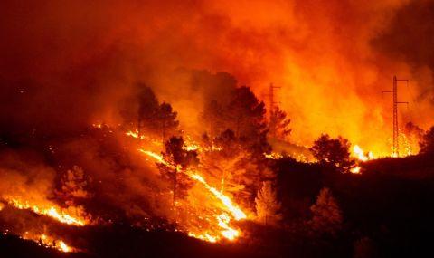 Евакуираха хиляди заради пожар край бреговете на Калифорния - 1