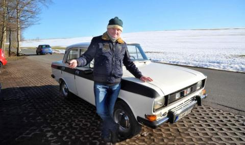 Германецът, който изминава 1 млн. км с... Москвич 2140