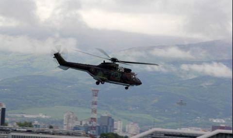 "Вертолет ""Кугар"" трети ден участва в гасенето на горския пожар в Рила - 1"