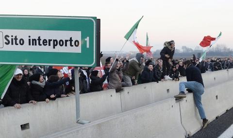 Антиевропейски протести тресат Италия - 1