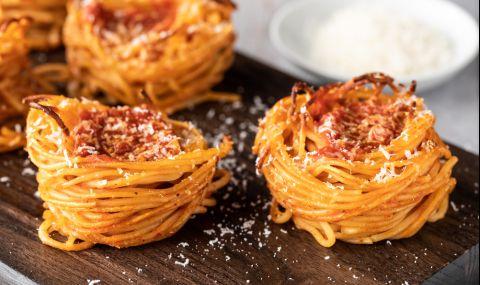 Рецепта за вечеря: Мъфини от спагети