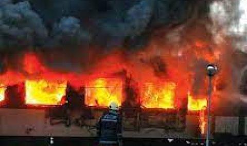 Пътнически вагон изгоря на гара Варна - 1