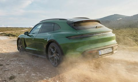 Ето го: Porsche представи електрическото комби със 761 конски сили - 9