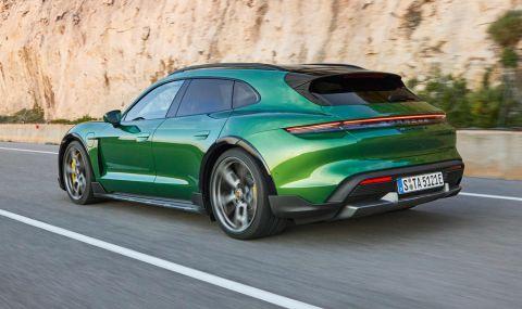 Ето го: Porsche представи електрическото комби със 761 конски сили - 11