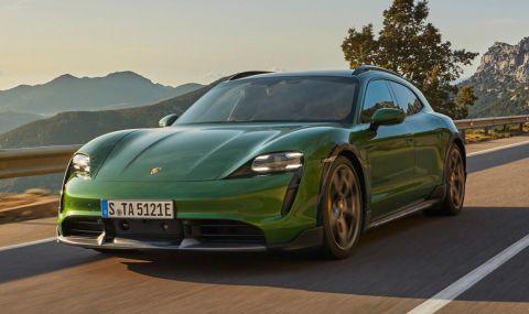 Ето го: Porsche представи електрическото комби със 761 конски сили - 12