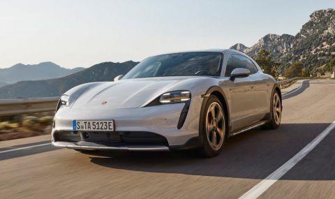 Ето го: Porsche представи електрическото комби със 761 конски сили - 14