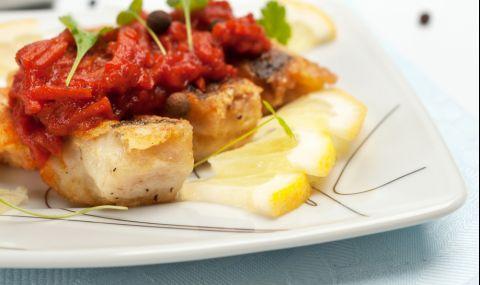 Рецепта за вечеря: Сьомга с доматен сос - 1