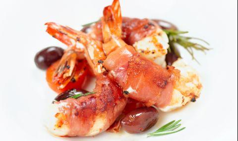 Рецепта за вечеря: Скариди в прошуто