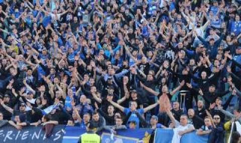 Феновете на Левски сe активизираха за мача с ЦСКА