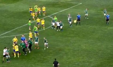 Излезе ВИДЕО от грозните сцени между футболистки