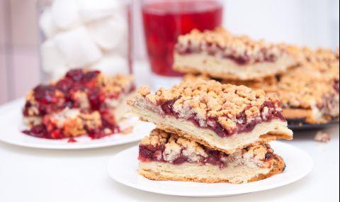 Рецепта на деня: Сладкиш със стъргано тесто