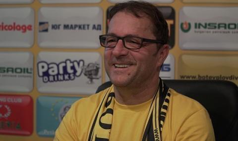 Треньорът на Ботев (Пловдив): Работя по 15 часа всеки ден, загубите ме мотивират