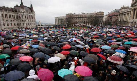 "Протест в Будапеща заради шпионския софтуер ""Пегас"" - 1"