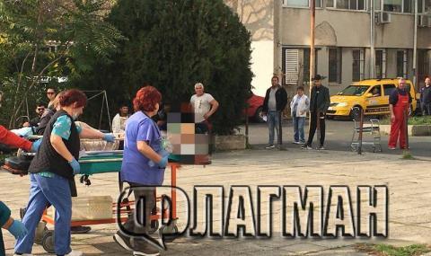 Млада жена роди мъртво бебе на пейка пред болница в Бургас