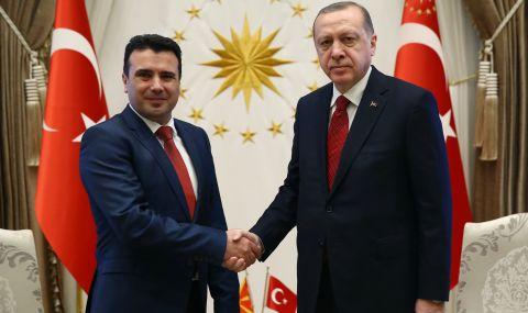Зоран Заев разговаря с Реджеп Ердоган