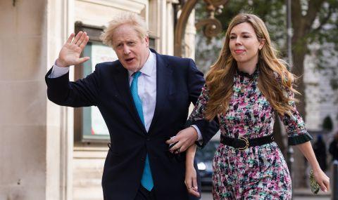 Появи се първа СНИМКА от тайната сватба на Борис Джонсън