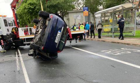 Размазалият се с лек автомобил в Несебър е полицай, арестуван е