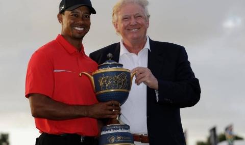 Доналд Тръмп поигра голф с Тайгър Уудс