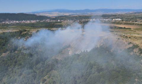МОСВ: Няма замърсяване на въздуха след пожара на сметището край Дупница - 1