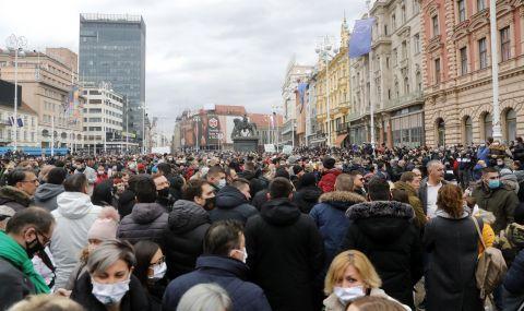 Хиляди протестират в Загреб срещу мерките, наложени заради COVID-19