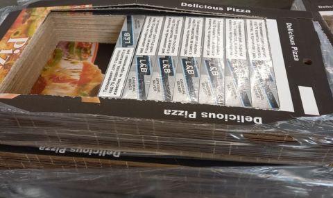 На Летище София задържаха голямо количество контрабандни цигари, укрити в кутии за пица