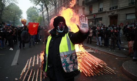 Масови протести във Франция за Първи май