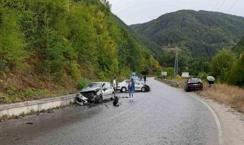 Четирима ранени след челен удар на пътя Банско - Гоце Делчев - 1