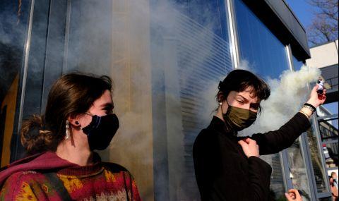 Неваксинирани граждани протестират в Братислава - 1