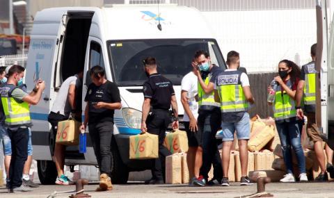 В Испания арестуваха българи с 30 тона хашиш